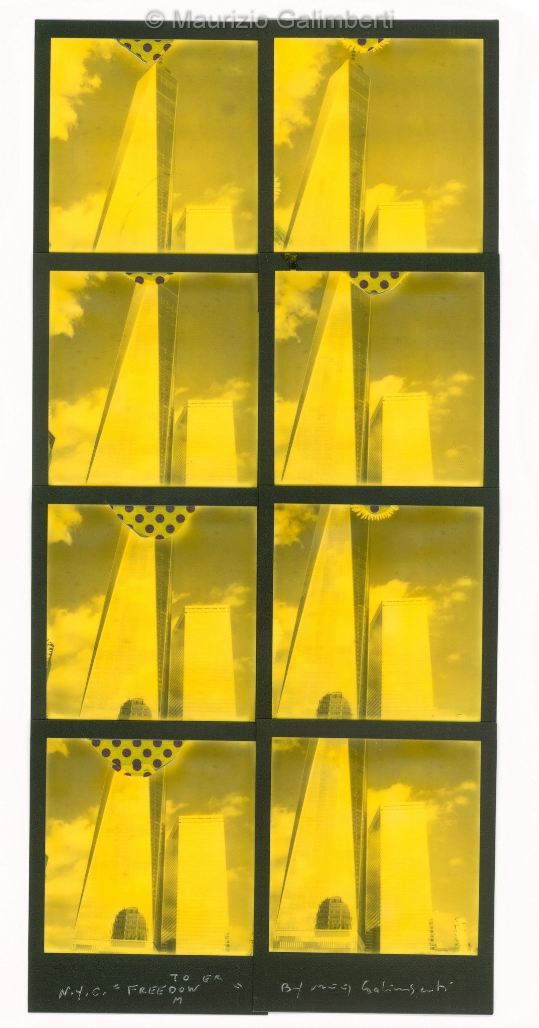 "VINTAGE POLAROID MAURIZIO GALIMBERTI ""FREEDOM"" dimensioni cm. 40x60"