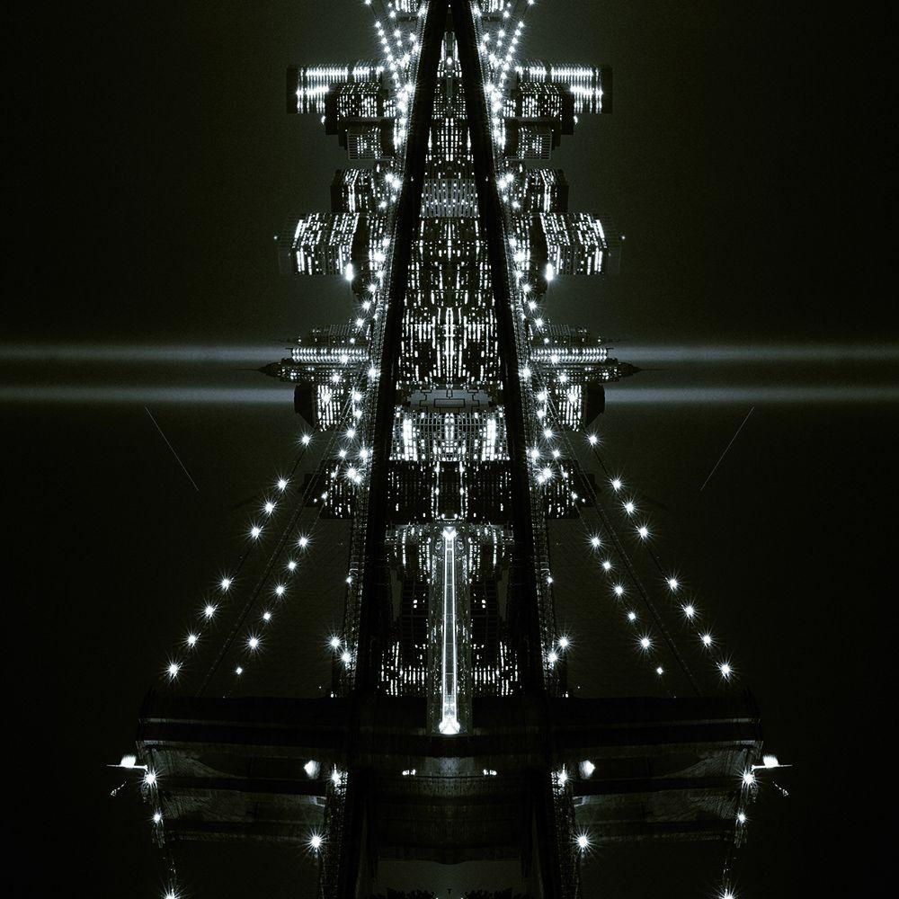 FOTOGRAFIA MAX FALSETTA SPINA ' NEW YORK STUDIO 10 '   dimensioni L 100 x H 100 cm.