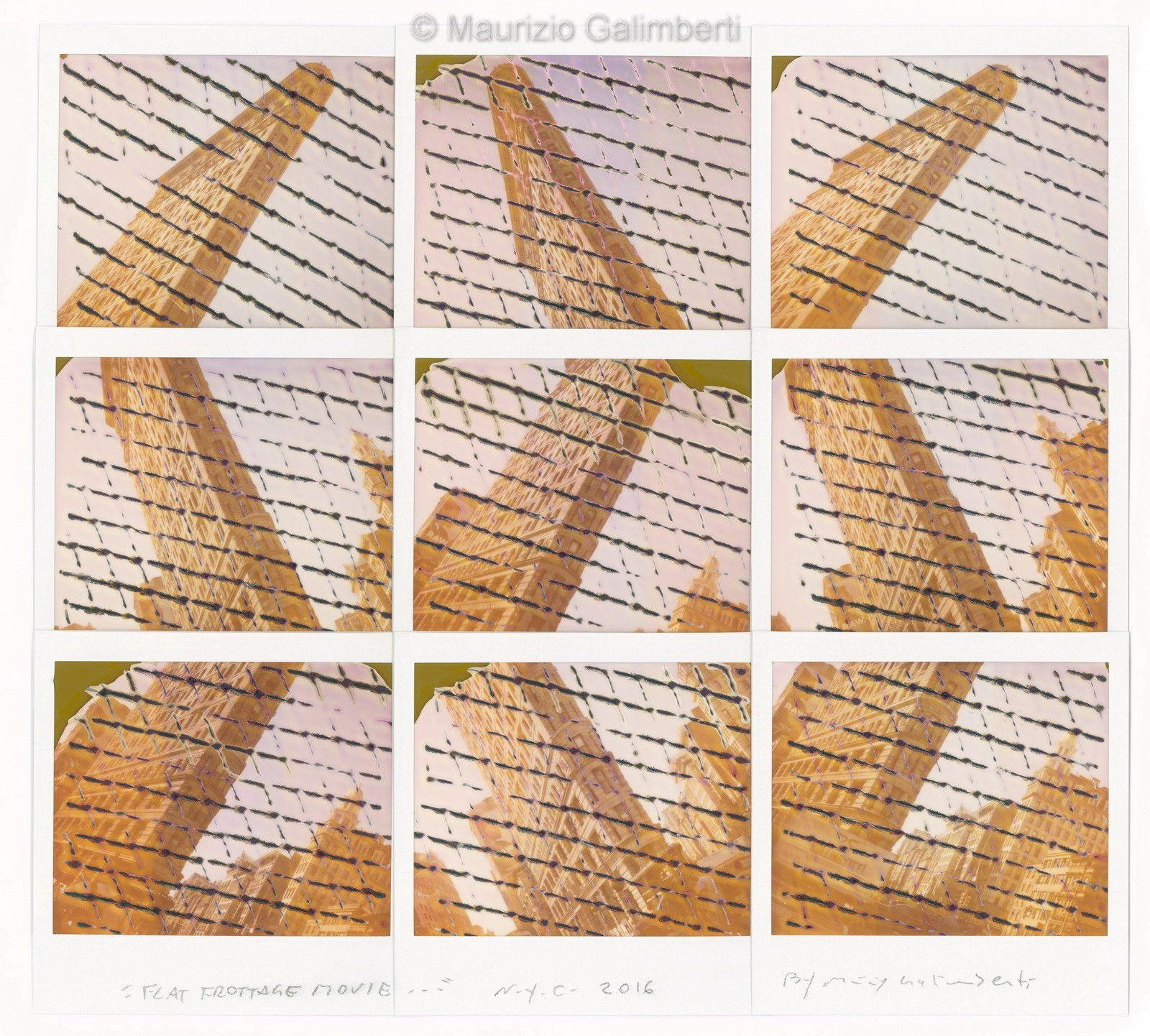 VINTAGE POLAROD MAURIZIO GALIMBERTI 'FLAT FROTTAGE MOVIE' dimensioni cm 53x50