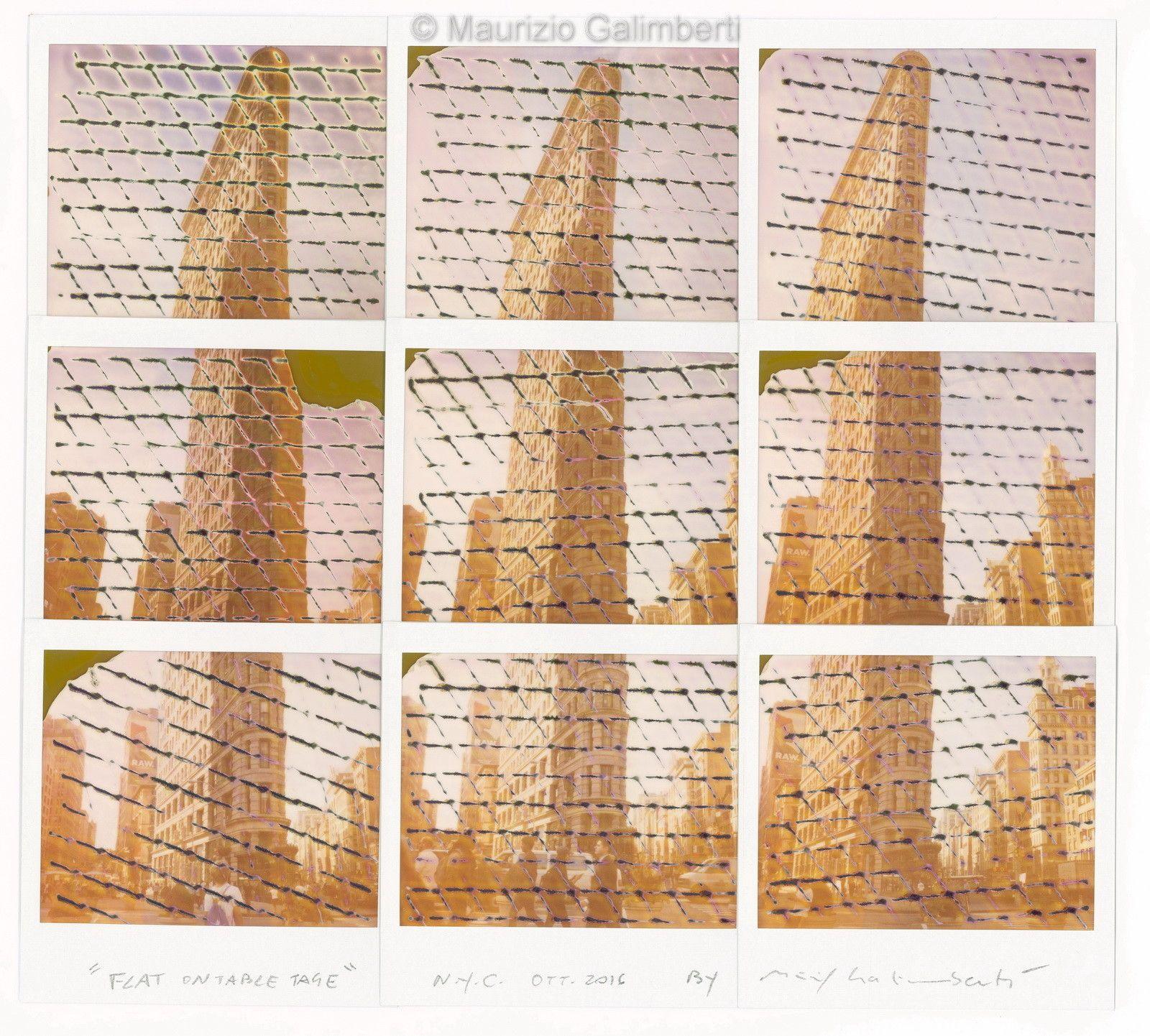 VINTAGE POLAROID MAURIZIO GALIMBERTI 'FLAT ON TABLE TAGE' dimensioni cm. 53x50