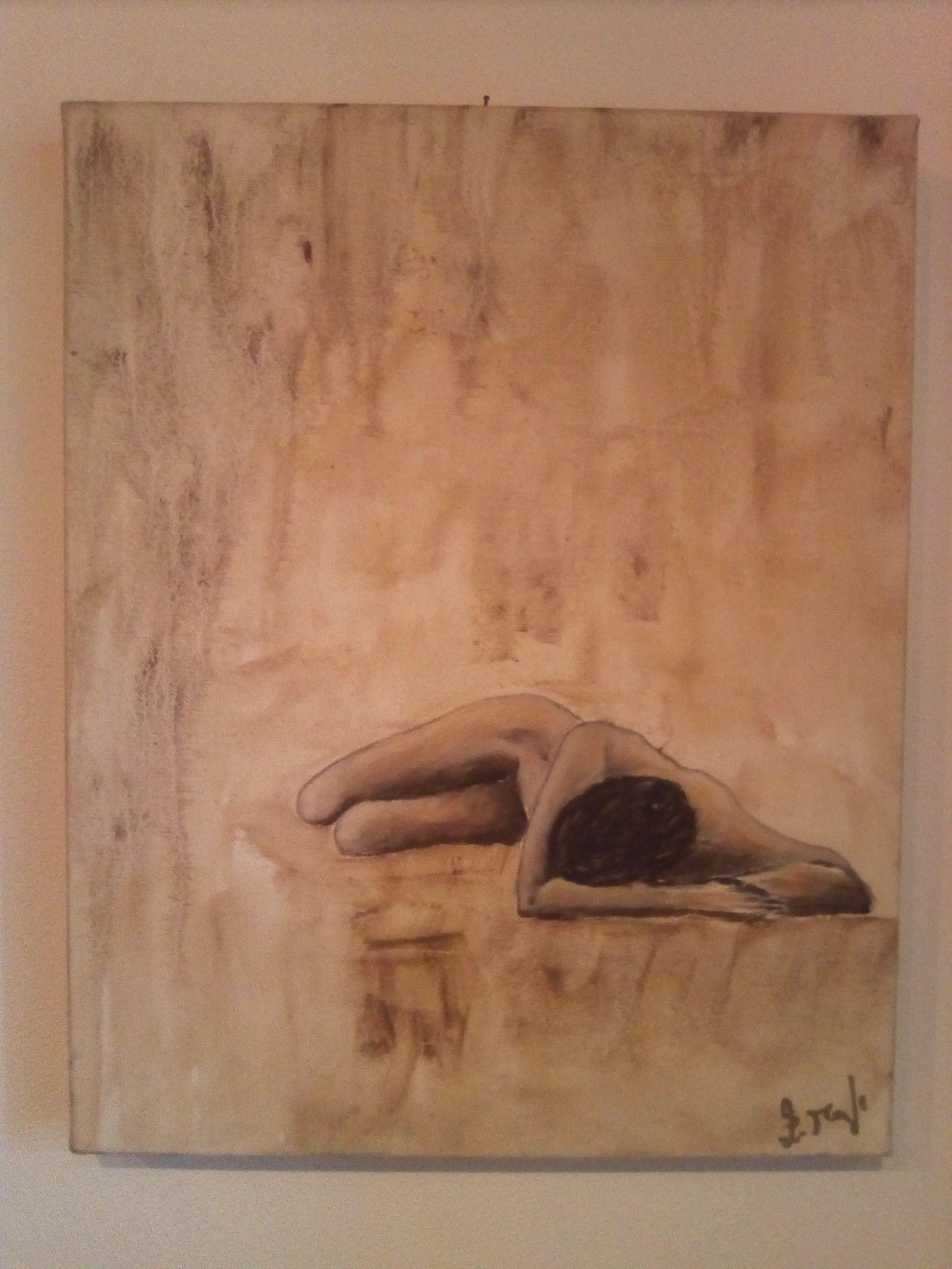 "OLIO SU TELA ELISABETTA MANGHI "" GOCCE DI MEMORIA ""  dimensioni L 40 x H 50 cm."