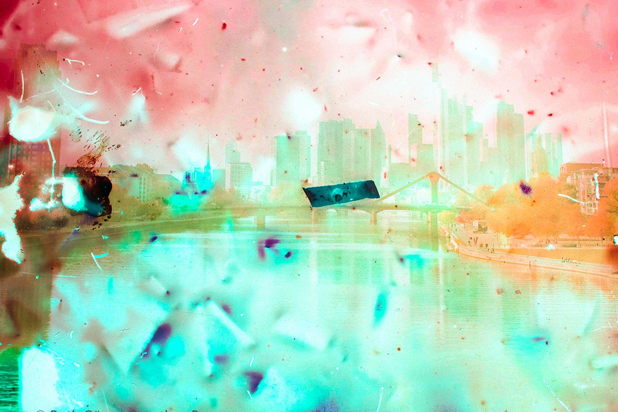 "FOTOGRAFIA GUSE - BORNEMANN "" SKYLINE ""  dimensioni L 75 x H 50 cm."