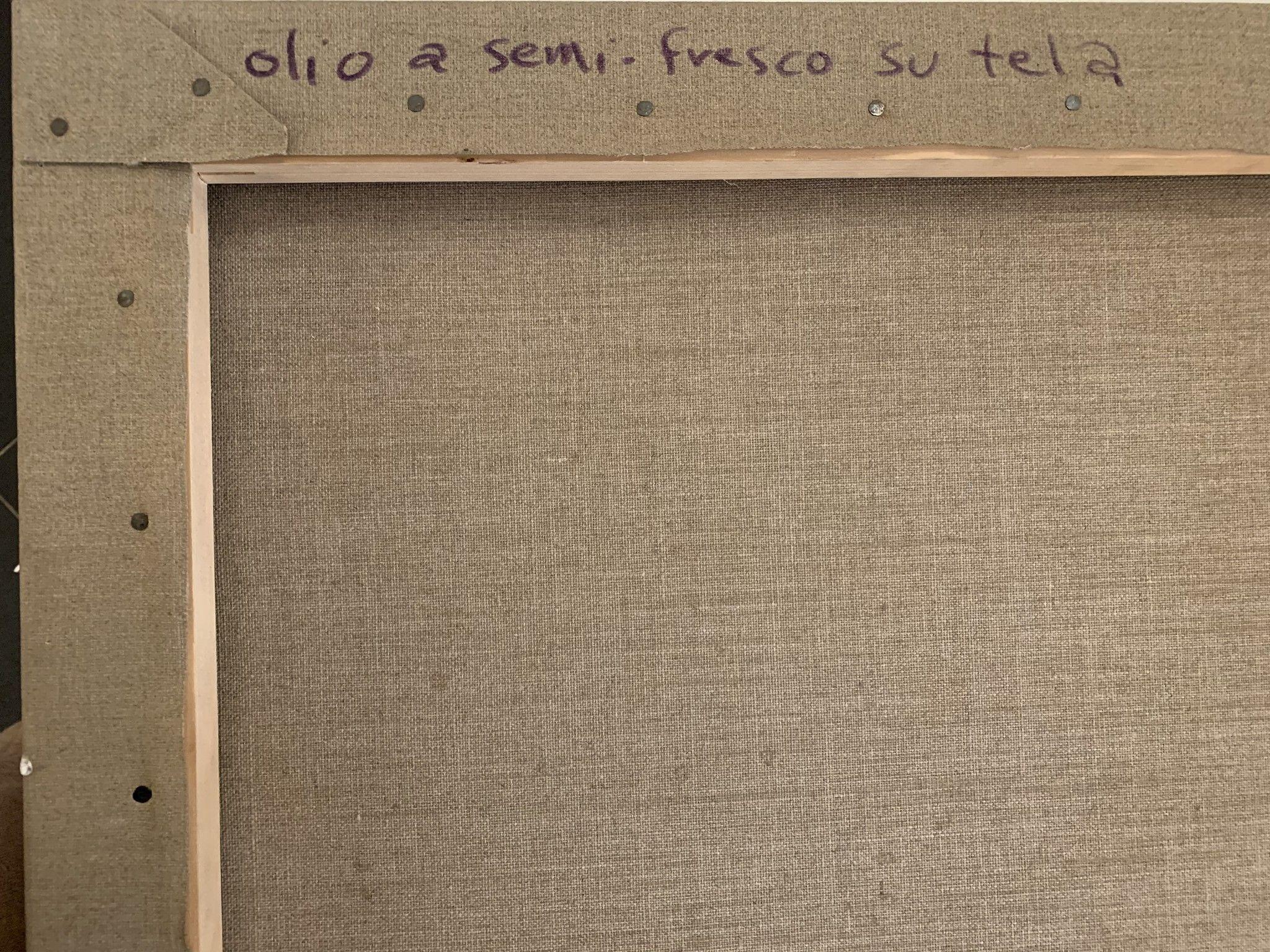 """OLIO SU TELA  ALI HASSOUN """" LA VENERE DEGLI STRACCI 1 """"  dimensioni L 75 x H 60 cm."""