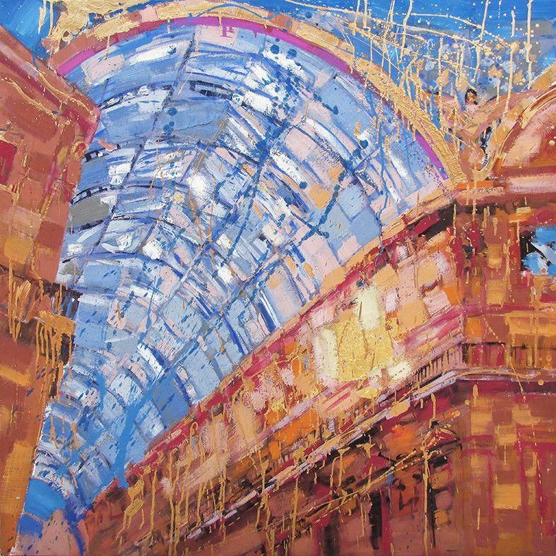 OLIO SU TELA FRANCESCO TONIUTTI ' TRIONFO IN CHIARO '  dimensioni L 120 x H 120 cm.