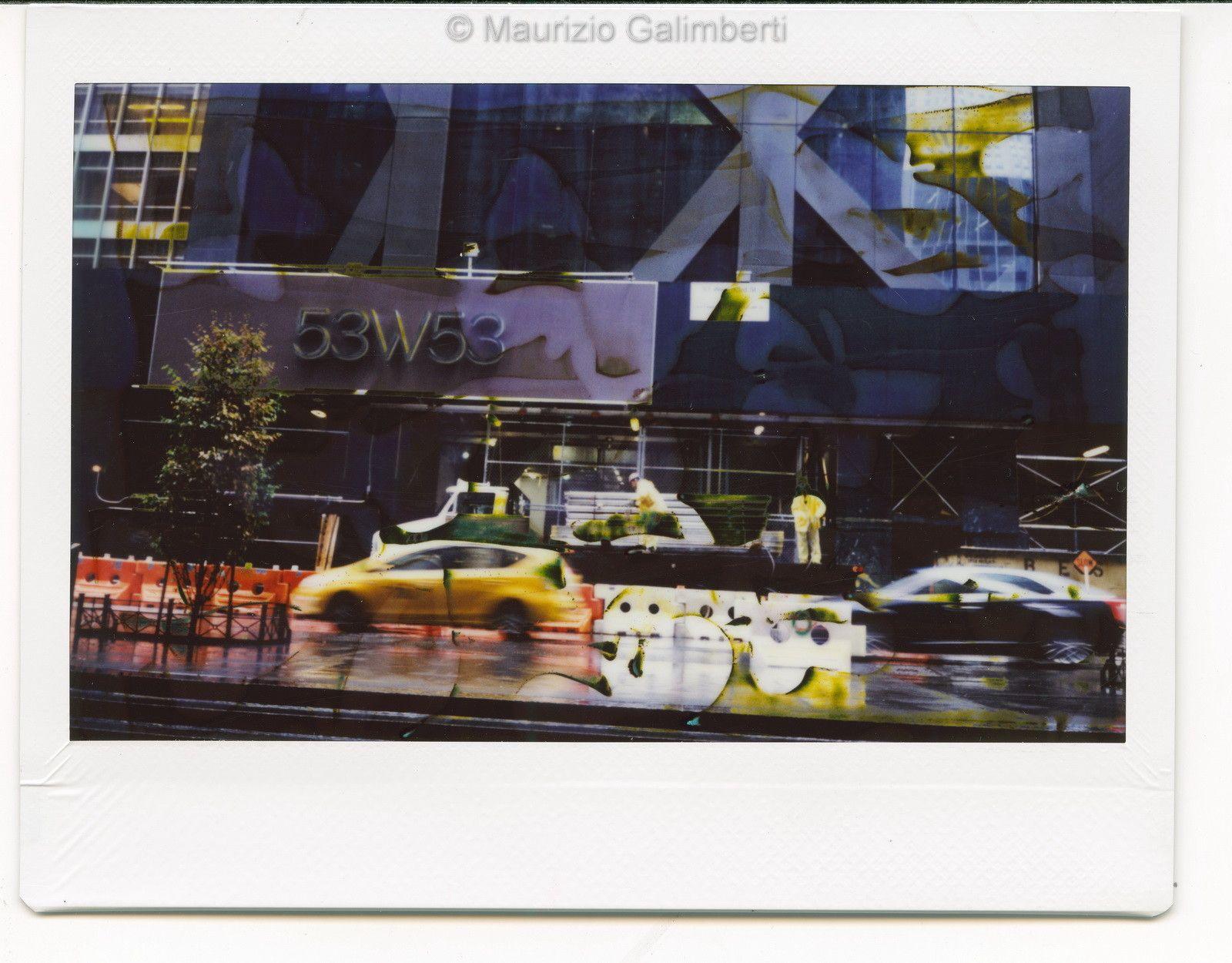 VINTAGE POLAROID MAURIZIO GALIMBERTI 'NY FUJI 015' dimensioni cm. 34x32