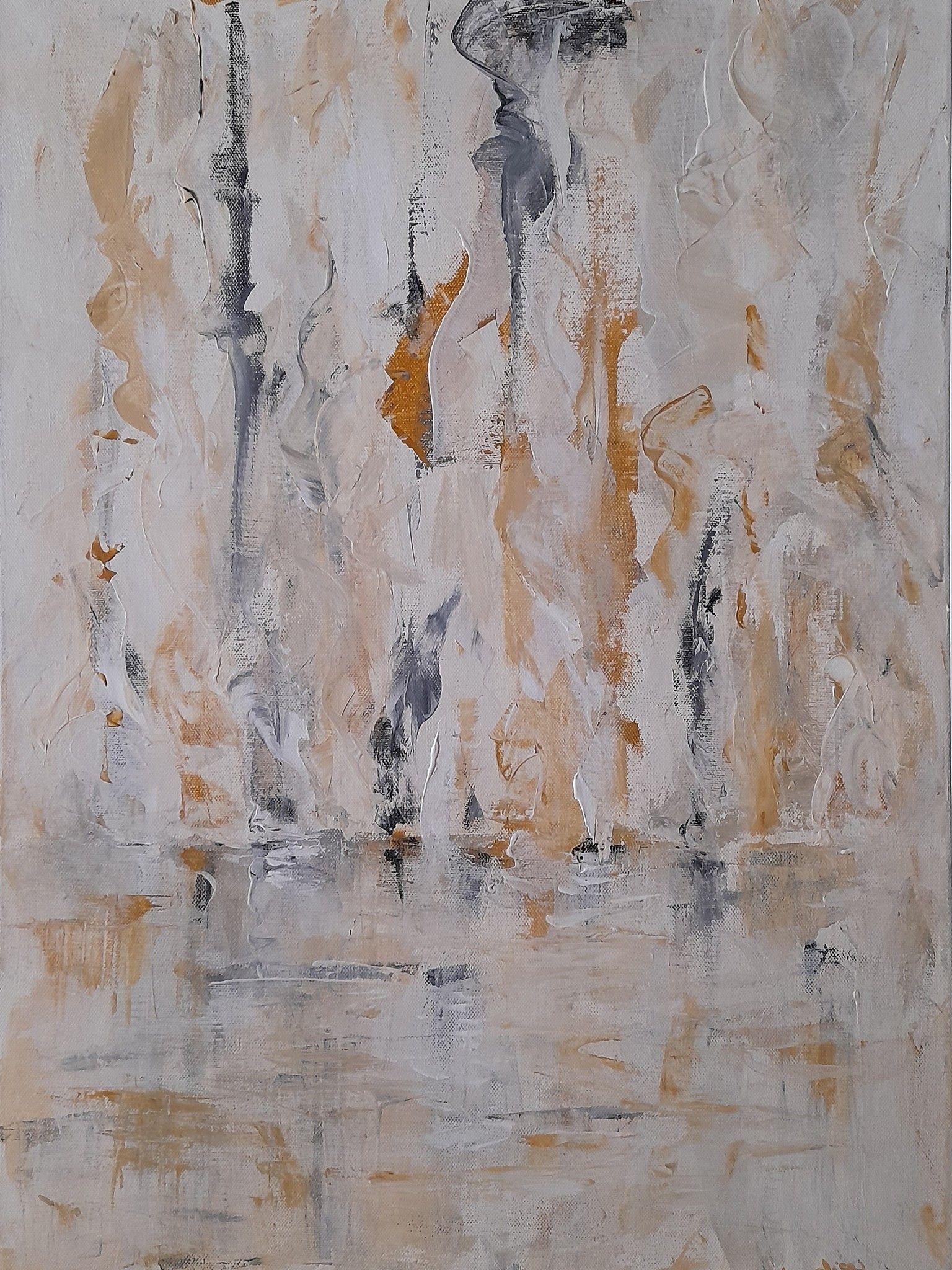 ACRILICO SU TELA  ANNALISA COLOMBO  ' FLUIDITA' '  dimensioni L 50 x H 70 cm.