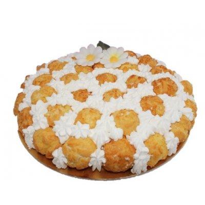 Torta con bignè e crema composizione BIGNOLATA