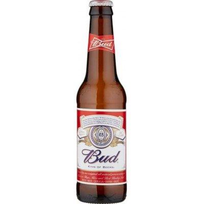 Birra Bud bionda 5% alcool bottiglia vetro 33 cl.