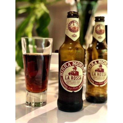 Birra Moretti 'La Rossa' 7,2%alcool doppio malto, bottiglia di vetro 33cl.