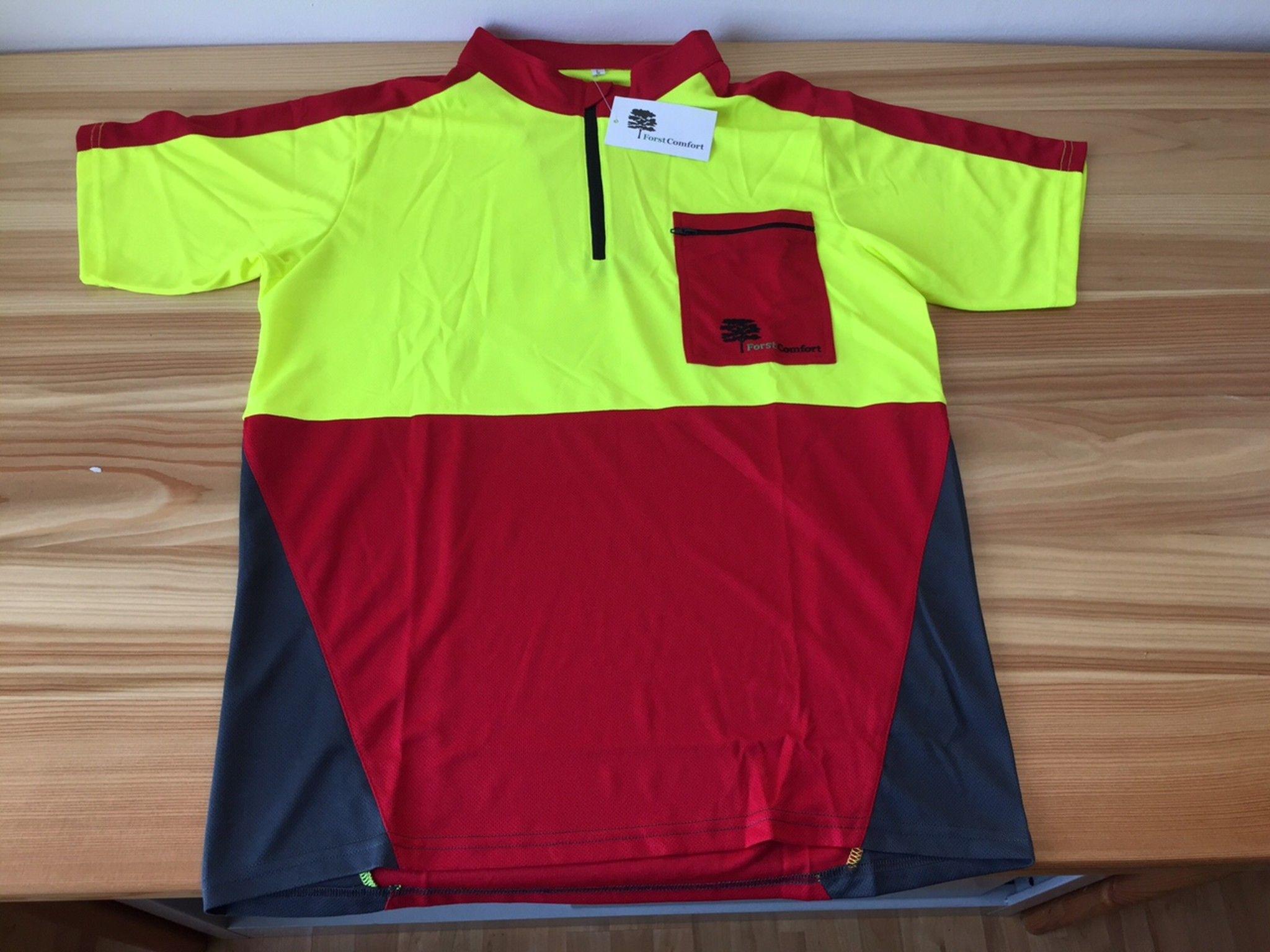 T-shirt uso forestale a manica corta alta visibilità con taschino