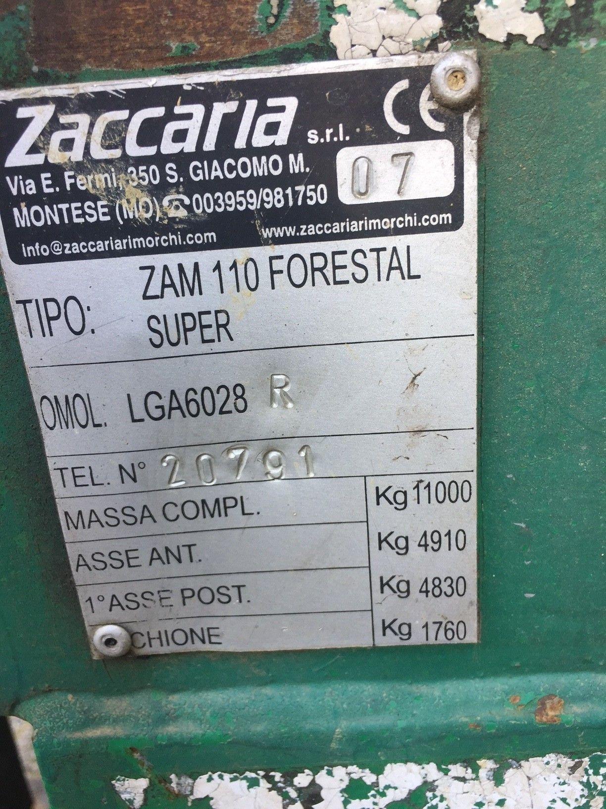 Rimorchio forestale usato Zaccaria ZAM110 Forestal