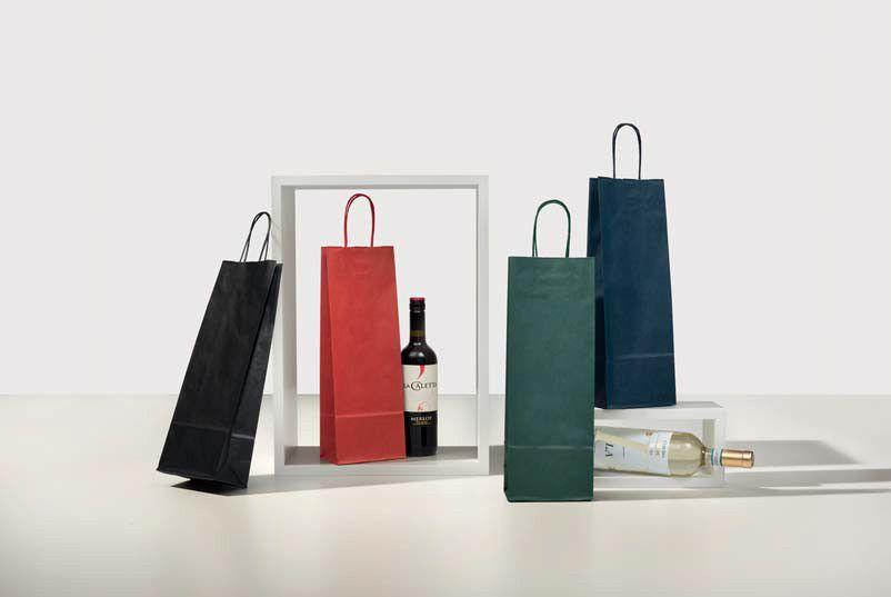 Portabottiglie Sealing avana colorato stampato gr. 120  14+8x40