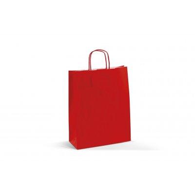 Busta Carta Kraft Bianco Rosso 22 cm