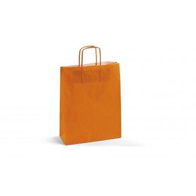 Busta Carta Kraft Bianco Arancio 22 cm