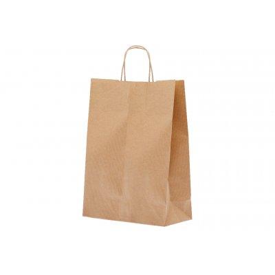 Shopper carta kraft avana riciclato neutro cordino ritorto in carta 27+12x37 cm gr.100