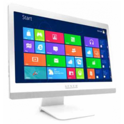 "BUNDLE PC Win10 + Kit gestione POS Instant Commerce - AIOT Senek 20"" Attractive Total White 8Gb i3-7100 SSD240Gb"