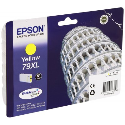 Epson 79XL Serie Torre, Cartuccia originale getto d'inchiostro DURABrite Ultra, Formato XL, Giallo