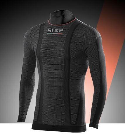 SIXS TS3W Maglia intima lupetto a maniche lunghe, tessuto Thermo Carbon Underwear