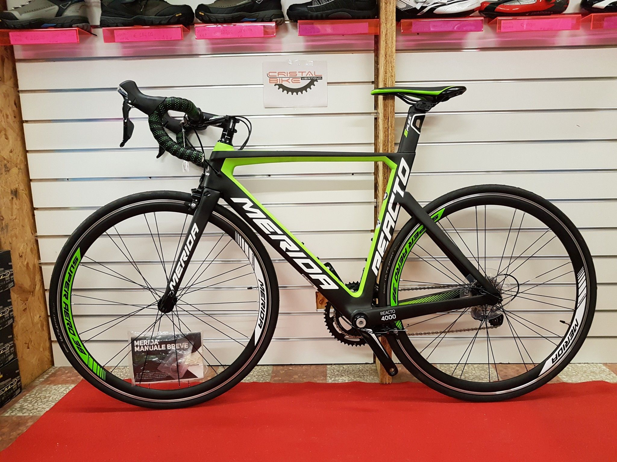 14 Bici Da Corsa Merida Reacto4000 Taglia Sm Usato E Fine Serie Shop Online Cristal Bike