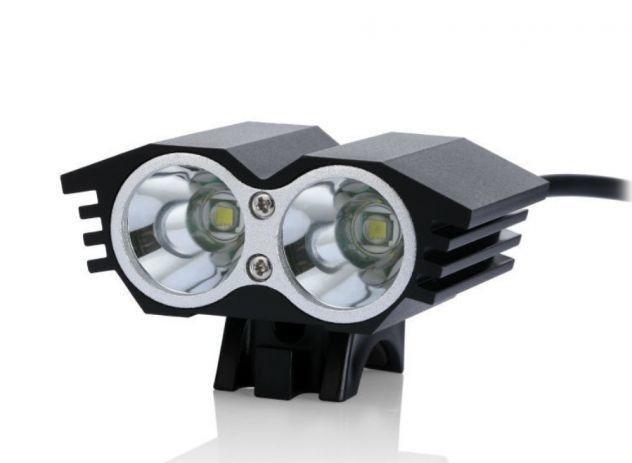 LUCE A LED 1500LUMEN per MTB sci alpinismo con batteria al litio e caricabatteria