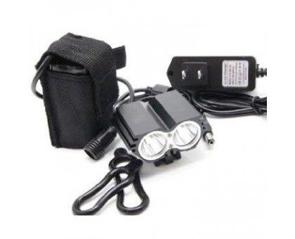 LUCE A LED 1500  LUMEN per MTB sci alpinismo con batteria al litio e caricabatteria