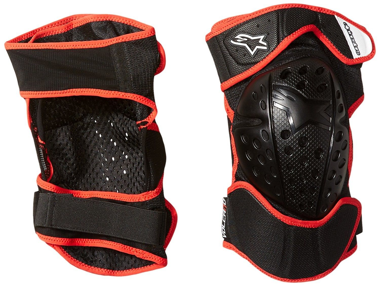 Alpinestars Ginocchiere Volcano Nero/Rosso, nero Knee protector Tg S/M- L/XL