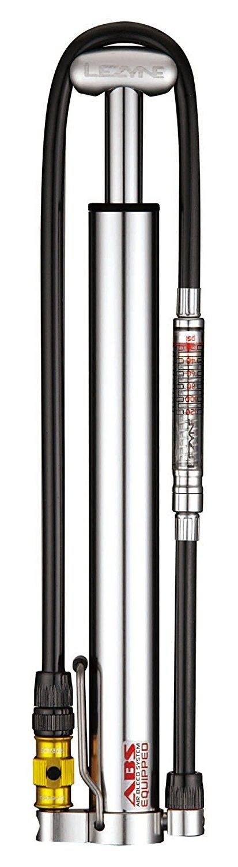 Lezyne, Pompa portatile per bicicletta, con manometro, Argento, ideale per gomme Plus e Fat