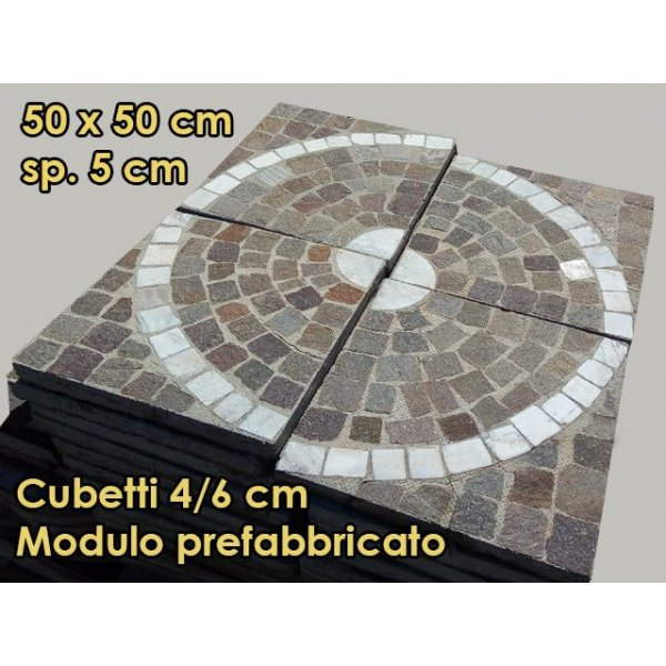 Modulo prefabricato profido trentino cubetti 4/6 cm a cerchio