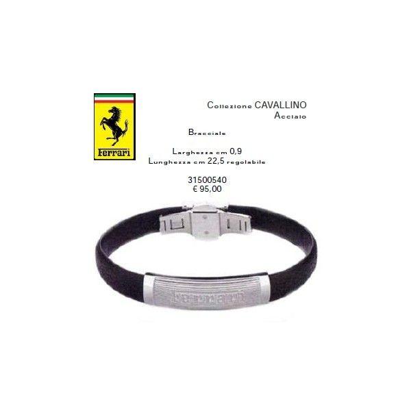 70b271b95f76c0 Ferrari Bracciale nero | Gioielli e Accessori Ferrari | Shop Online ...