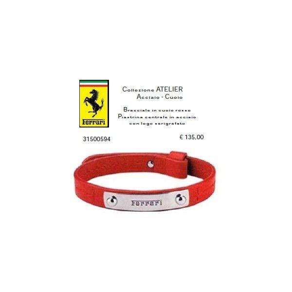 Ferrari Bracciale in cuoio rosso