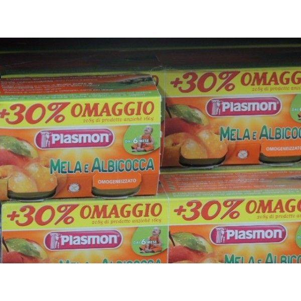 Plasmon   Mela/ Albicocca gr. 80 X 2 Omogeneizzato