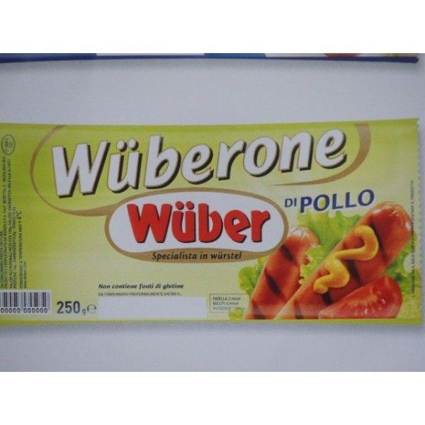 Wuberone Pollo pz 3 Gr. 250 Wurstel
