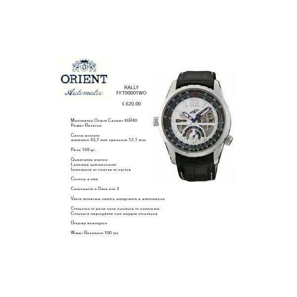 Orient Rally Quadrante Bianco