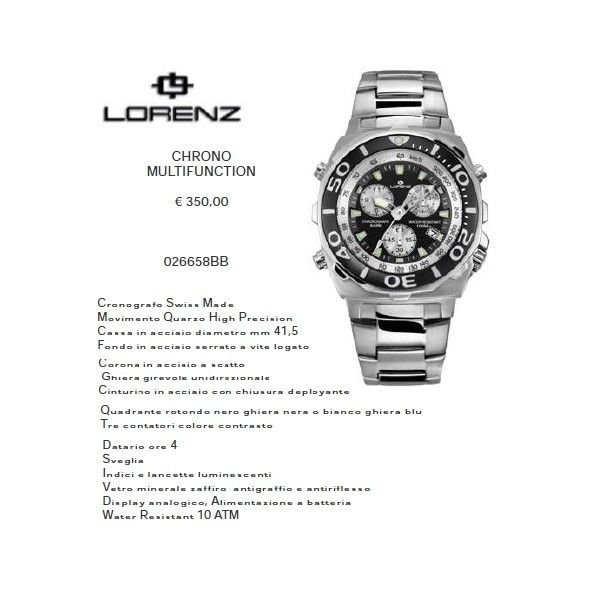 Lorenz Chrono Multifunction nero/nero