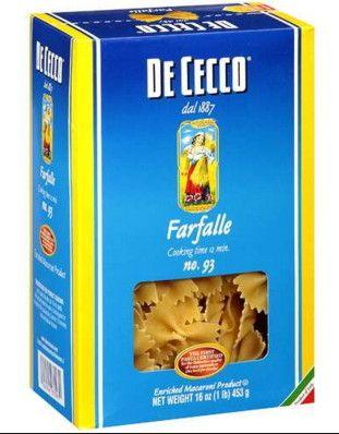 De Cecco Farfalle nr. 93 Gr. 500 Pasta