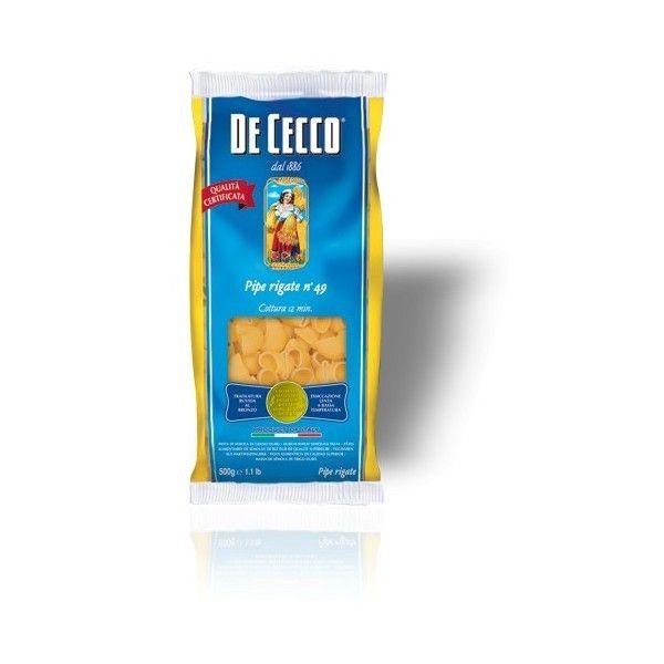 De Cecco Pipe Rigate nr. 49 Gr. 500 Pasta