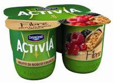 Activia Danone x 4 Frutti Bosco Crusca con Fibre