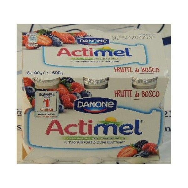 Actimel Danone 6x100 Frutti di Bosco