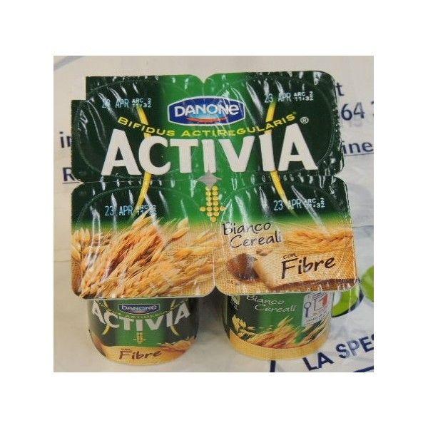 Activia Danone x 4 Bianco Cereali con Fibre Zero Grassi