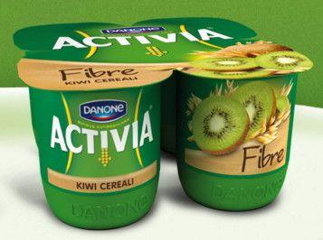 Activia Danone x 4 Kiwi Cereali con Fibre