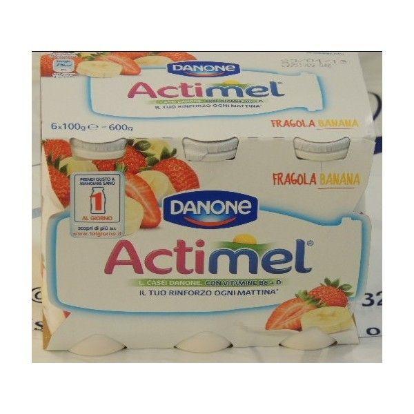 Actimel Danone 6x100 Fragola/Banana