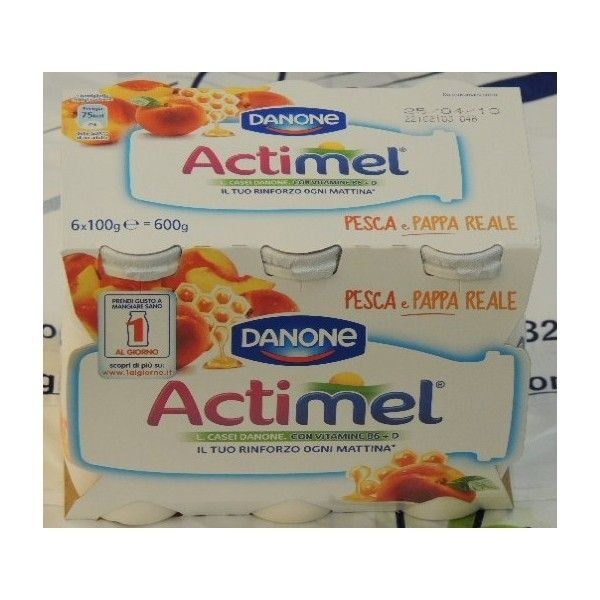 Actimel Danone 6x100 Pesca Pappa Reale
