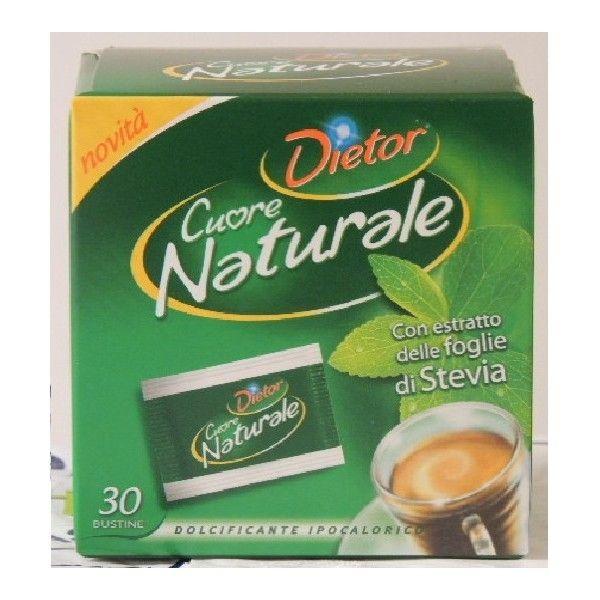 Stevia Cuore Naturale 30 Buste Dietor Dolcificante