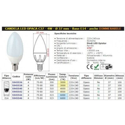 Mod. E14 Candela LED W4