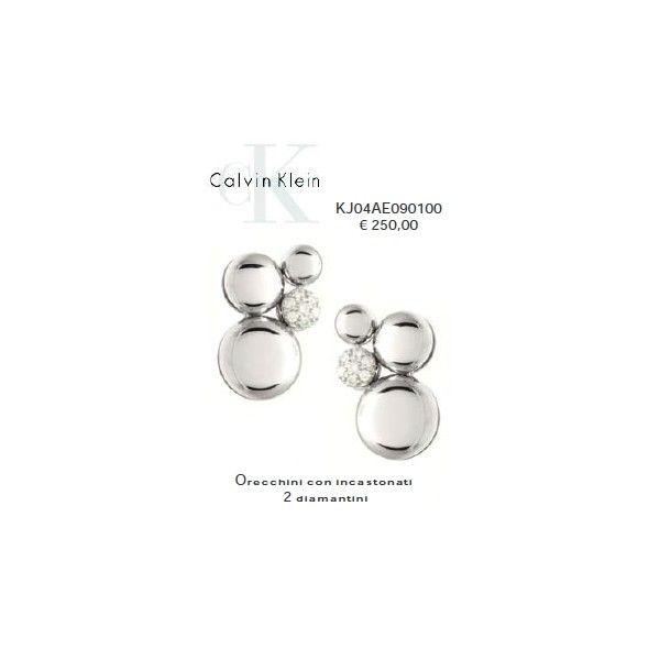 Calvin Klein Orecchini con incastonati 2 Diamantini