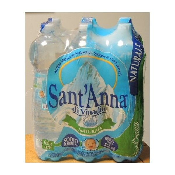 Acqua Sant'Anna Naturale lt 1,5 X 6