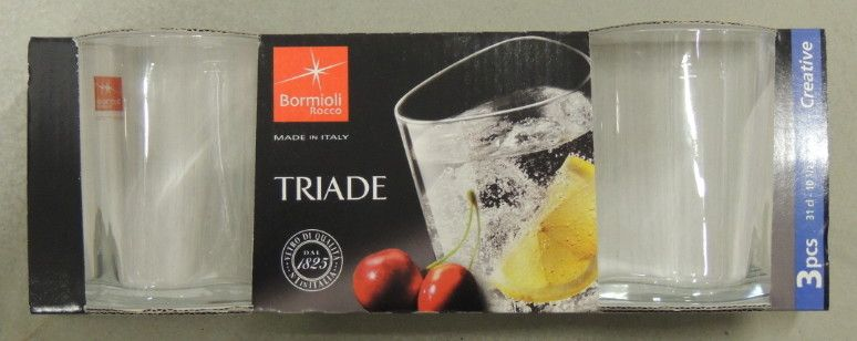 3 Bicchieri Bormioli Triade X Acqua cl 31