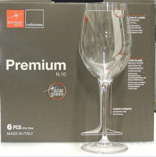 6 Bicchieri Bormioli Premium N.10 Barbera cl 47