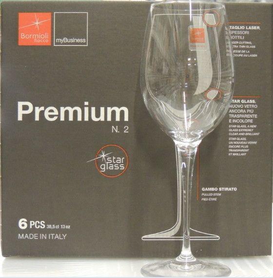 6 Bicchieri Bormioli Premium N.2 Chianti cl 38,5