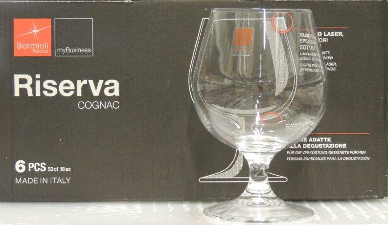 6 Bicchieri Bormioli Riserva Cognac cl 53